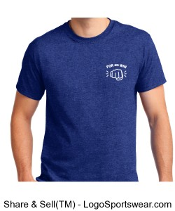 Mens T-shirt - Traditional Design (in Antique Royal) Design Zoom