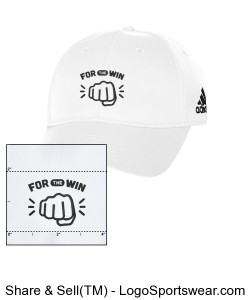 Adidas Performance Structured Cap (in White) Design Zoom